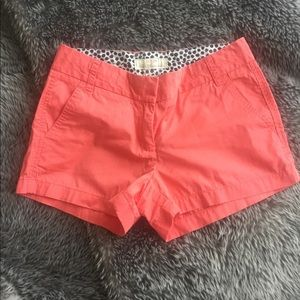 J.Crew Coral size 2 shorts
